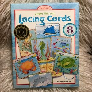 Lacing Cards Toddler Activity, Christmas Gift!
